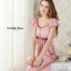 SP005 ชุดนอนสีชมพูอมม่วง เรียบหรู สวยมากคะ