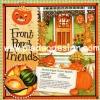 กระดาษอาร์ทพิมพ์ลาย สำหรับทำงาน เดคูพาจ Decoupage : Cooking Series - Brown Sugar Acorn Squash