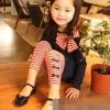 ชุดเซตเด็กหญิง 2 ชิ้น เสื้อ+กางเกง ผ้าเนื้อดีน่ารักสไตล์เกาหลี ( สีน้ำเงิน )