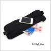 GB098 กระเป๋าคาดเอว ใส่สิ่งของต่าง เช่น ใส่เงิน ใส่พาสปอร์ส บัตรต่างๆ หนังสือเดินทาง มือถือ หรือ เอกสารสำคัญ สีดำ มีซิบเปิด-ปิด สายคาดเอวสามารถปรับขนาดได้