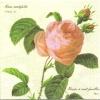 แนวภาพดอกไม้ ดอกกุหลาบเดี่ยว บนพื้นครีม เป็นกระดาษ 4 บล๊อค กระดาษแนพคินสำหรับทำงาน เดคูพาจ Decoupage Paper Napkins เป็นภาพ 4 บล๊อค ขนาด 25X25 ซม
