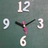 ชุดตัวเครื่องนาฬิกาญื่ปุนเดินเรียบ เข็มลายโมเดิน ขนาดเล็ก เข็มสั้น-เข็มยาวสีดำ เข็มวินาทีหัวใจสีชมพู อุปกรณ์ DIY