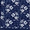 แนวภาพ ลายดอกไม้ สีขาว บนพื้นสีน้ำเงินเข้ม เป็นภาพกระจายเต็มแผ่น กระดาษแนพกิ้นสำหรับทำงาน เดคูพาจ Decoupage Paper Napkins ขนาด 33X33cm