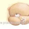 กระดาษสาพิมพ์ลาย สำหรับทำงาน เดคูพาจ Decoupage แนวภาำพ ภาพวาด ภาพแนวการ์ตูน น้องหมี ฮอลล์มาร์ค Hallmarks bear น้องหมีนั่งกอดอก ถือดดอกไม้สีขาว เตรียมให้ใครเอ่ย (ปลาดาวดีไซน์)