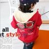Huanzhu kids เสื้อแจ็คเก็ต มีฮูทเห่ห์ๆ สไตล์เกาหลี
