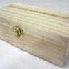 """ชิ้นงานดิบไม้สน ทำ Decoupage งานเพนท์ กล่องไม้สนแบบมีล็อค ทรงสี่เหลี่ยมผืนผ้าขนาดยาวกลาง 4"""" x 8"""" x 2.75"""""""