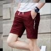 กางเกงขาสั้นแฟชั่นเกาหลี สีแดง ลายตารางในตัว