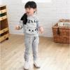 Huanzhu kids ชุดเซ็ทเด็ก เสื้อแขนยาวมีฮูทเห่ห์ๆ + กางเกงขายาวน่ารัก สไตล์เกาหลี