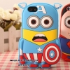 Captain American 3D silicone soft Back cover Case for iPhone 5/5s
