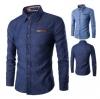 เสื้อเซิ้ต ยีนต์ สไตล์เกาหลี สำหรับผู้ชาย JN002