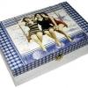 กล่องไม้สน มีล๊อค ลายสาวสาวสาว 3 สาวสุดฮ๊อตในเดรสสั้นแม็กซี่เป็นภาพวินเทจ ตัวกล่องทำเป็นสีเทาพาสเทล สวยคลาสสิก สไตล์วินเทจ อิอิ^^