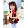 เสื้อผ้าแฟชั่นเด็ก ผ้าชีฟองสีดำ ลายจุด น่ารัก สดใส สไตล์เกาหลี