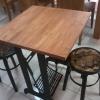 ชุดโต๊ะขาจักรพร้อมเก้าอี้หัวโล้น