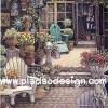 กระดาษอาร์ทพิมพ์ลาย สำหรับทำงาน เดคูพาจ Decoupage แนวภาพ จัดบ้านและสวน เก้าอี้ในสวนหน้าบ้าน ภาพแนวตั้ง ปลาดาว ดีไซน์