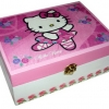 กล่องไม้สน มีล๊อค ลายน้องเหมียวน้อย Hello Kitty แมวสาวนักบัลเล่ต์ ตัวกล่องทำเป็นลายดอกไ้ม้หวานๆ มาเอาใจแฟนๆ Hello Kitty โดยเฉพาะล่ะจร้า