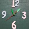 ชุดตัวเครื่องนาฬิกาญื่ปุนเดินเรียบ เข็มลายโมเดิน ขนาดกลาง เข็มสั้น-เข็มยาวสีเขียว เข็มวินาทีสีแดง อุปกรณ์ DIY
