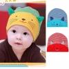 BB017 หมวกเด็ก ผ้าลายขวาง พิมพ์ลายหน้าน้องแมว มีหูตั้ง หมวกพับได้ สวย น่ารัก มีให้เลือกหลายสี
