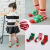 BS001 ถุงเท้าเด็ก แบบสั่น ลายคริสต์มาส สวย น่ารัก