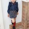 Huanzhu  kids ชุดเดรสยีนส์สาวน้อยพร้อมผ้าพันคอค่ะ สไตล์เด็กเกาหลี น่ารัก