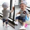 ชุดแฟชั่นเด็ก 2 ชิ้น เสื้อสีเทาลายทาง มีอามส์รูปหมีที่อก กางเกงสีน้ำเงิน น่ารัก สไตล์เกาหลี(เด็ก 6 เดือน-3ขวบ ค่ะ)