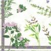 แนวภาพดอกไม้ เป็นช่อดอกไม้นลายแต่ง เป็นภาพกระจายเต็มแผ่น กระดาษแนพกิ้นสำหรับทำงาน เดคูพาจ Decoupage Paper Napkins ขนาด 33X33cm