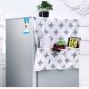 GK267 ผ้าคลุมตู้เย็นลายน่ารัก วัสดุทำจากเยื้อไผ่ แบบบาง ไม่กันน้ำ มีช่องใส่ข้าง ขนาด ยาว 129 x กว้าง 54 cm.