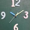 ชุดตัวเครื่องนาฬิกาญื่ปุนเดินเรียบ เข็มลายโมเดิน ขนาดเล็ก เข็มสั้นสีฟ้า-เข็มยาวสีเหลือง เข็มวินาทีสีเงิน อุปกรณ์ DIY