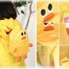 กระเป๋าเป้ เด็ก Linda ตัวกระเป๋าเป็นรูปเป็ดน้อยสีเหลือง ลายนี้น่ารักสุดๆ ค่ะ วัสดุเป็นหนัง PVC นิ่ม