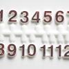 ชุดตัวเลขสำหรับประกอบนาฬิกา ตัวเลข สีแดงขอบขาว ตัวเลขสูง 9มม. อุปกรณ์ DIY