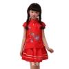 ชุดจีนแฟชั่นเด็ก เ เสื้อ +กระโปรง ปักลายดอกไม้สีแดงมาใหม่