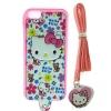 เคส Iphone 6 เคสไอโฟน6 เคสคิตตี้พร้อมสายห้อยคอ น่ารักมาก