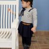 เสือ้ผ้าเด็กสีเทาตกแต่งด้วยมุก น่ารักสไตล์เกาหลี