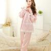 SP023 ชุดนอนเสื้อคู่กางเกงขายาว สีชมพู (ตามแบบในรูปคะ)