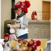 หมวกหมวกไหมพรมเด็กติดแบรนด์เนอร์ NFL สีแดง น่ารักสไตล์เกาหลี