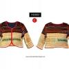 เสื้อเอวลอย แขนสั้น ผ้าชาวเขา HDJ 003 C / Hmong Jacket HDJ 003 C