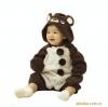 ชุดหมีแฟนซี ลายน้องหมีโคล่า + ถุงมือ สีน้ำตาล-ขาว มีขนาด 95