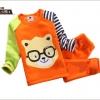 ชุดเซ็ทเด็ก เสื้อแขนยาวคอกลม + กางเกงขายาว สไตล์เกาหลี (ผ้่หนา)