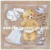 กระดาษสาพิมพ์ลาย rice paper เป็น กระดาษสา สำหรับทำงาน เดคูพาจ Decoupage แนวภาพ หมี เท็ดดี้ แบร์ tedyy bear สาวน้อยหาชุดสวยเตรียมแต่งตัวไปออกเดท pladao design