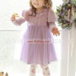 ชุดเด็ก(เดรส)_phelfishl สีม่วง ไซส์ 7,11