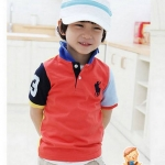 เสื้อ CI&SI ปักม้าโปโลสีส้ม ไซส์ 90-100-110-120-130