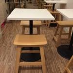 โต๊ะขาแชมเปญ+เก้าอี้สตูล สไตล์ญี่ปุ่น สำหรับร้านกาแฟ คาเฟ่