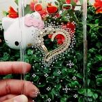 เคส Samsung Grand3 เคสฝาหลังประดับคริสตัล รูปหัวใจ