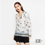 Zara Dogs Printed Shirt เสื้อเชิ้ตคอปก งานซาร่าผ้าพิมพ์ลายน้องหมา สวยน่ารัก ลายดูโดดเด่นตามสไตล์zara ใส่สบายๆค่ะ