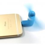 พัดลมพกพา สำหรับ IOSสีฟ้า