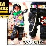 กางเกงยีนส์เด็ก ISSO ลายกะโหลก ไซส์ 5,7,9,13