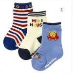 ถุงเท้าลาย Miki House แพค 3 คู่ ขนาด 9-15cm Set C