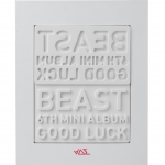 [Pre] Beast : 6th Mini Album - Good Luck (+ Member Random Lips Card) (White Ver.) +Poster