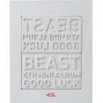 [Pre] Beast : 6th Mini Album - Good Luck (+ Member Random Lips Card) (White Ver.) +Poster
