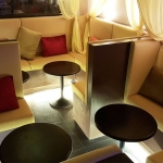 โต๊ะกลมขาแชมเปญ สูง 50 ซม.นั่งคู่กับโซฟา ประหยัดพื้นที่