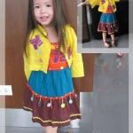 ชุดเด็ก(เดรส)โมฮีเบียนเหลือง ไซส์ 4,6